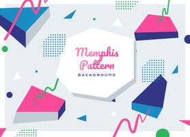 Memphis Pattern Background Vector astratto piano