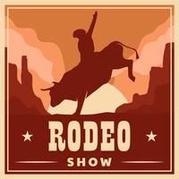Modello di volantino Rodeo