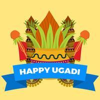 Illustrazione piana di vettore di Ugadi