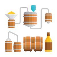 Illustrazione di processo di fabbricazione di Bourbon