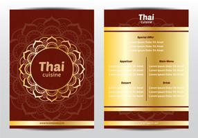 Modello di menu di ornamento thailandese vettore