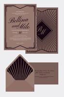 Carta di Nozze in stile Art Deco