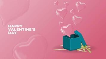 felice giorno di San Valentino vettore 3d