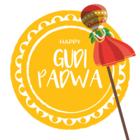 Gudi Padwa Greeting Card vettore