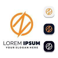 modelli di progettazione di logo di concetto di lettera creativa s