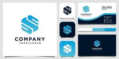 modelli di progettazione di logo di concetto di lettera creativa s e biglietto da visita