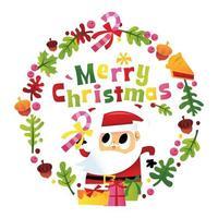 super carino felice buon natale ghirlanda di Babbo Natale