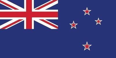 vettore di bandiera della Nuova Zelanda isolato per la stampa o il web
