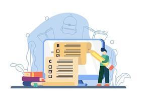 concetto di compiti a casa digitale