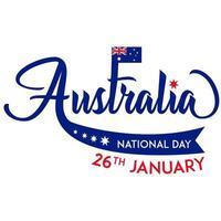sfondo della giornata nazionale australiana il 26 gennaio vettore