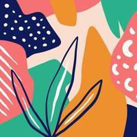 intestazione di arte creativa di doodle di sfondo colorato con diverse forme e trame