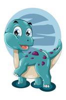 un simpatico dinosauro tosca illustrazione animale vettore