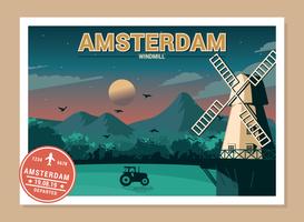 Cartoline del mondo vettore
