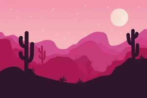 Vettore del paesaggio del deserto