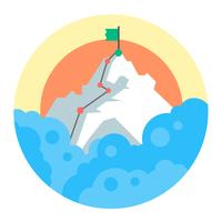 Monte Everest vettore