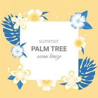 Vector Summer Greeting Card Design