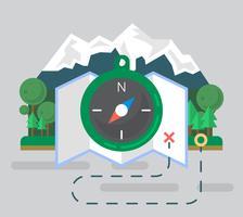 Illustrazione di escursionismo vettore