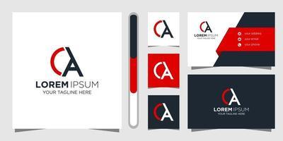 lettera un logo design e biglietto da visita vettore