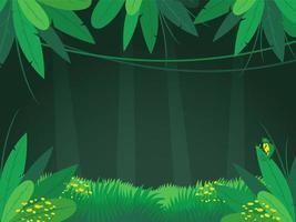 sfondo di giungla foresta pluviale tropicale vettore