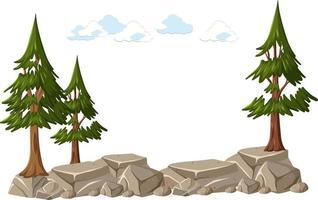 albero isolato su sfondo bianco vettore