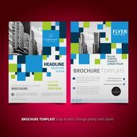 Volantino Design brochure aziendale vettore