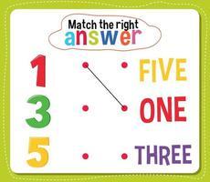 abbinare l'attività di risposta giusta per i bambini vettore