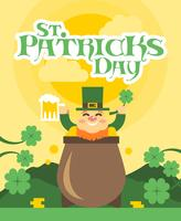 Vettore piano dell'illustrazione di giorno della st Patricks