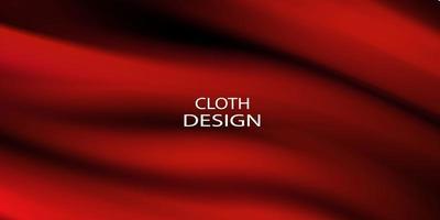 sfumature astratte, tessuto rosso onde banner modello di sfondo. vettore