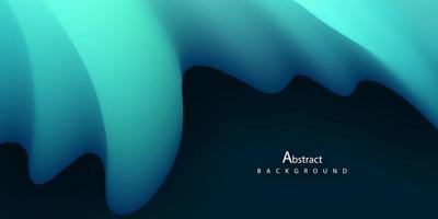 concetto di sfondo sfumato liquido blu astratto per la progettazione grafica vettore