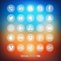 Icona trasparente di media sociali vettore