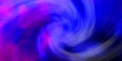 modello vettoriale rosa scuro, blu con cielo, nuvole.
