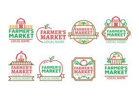 Gli agricoltori del mercato logo vettoriale