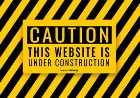 Illustrazione in costruzione del sito Web vettore