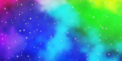 trama vettoriale multicolore leggera con bellissime stelle.