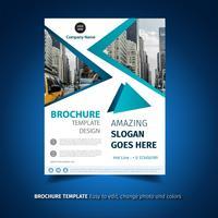 Modello di brochure geometrico vettore