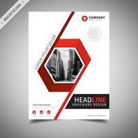 Brochure aziendale rossa vettore
