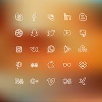 Icona di media sociali foderato vettore
