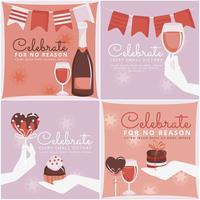 Carte di celebrazione vettoriale