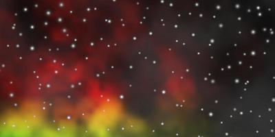 layout vettoriale multicolore scuro con stelle luminose.