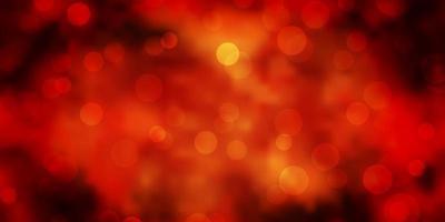 trama vettoriale arancione scuro con cerchi.