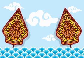 Vettore di Gunungan Wayang