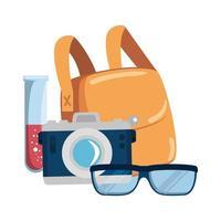 fotocamera fotografica e impostare le icone vettore
