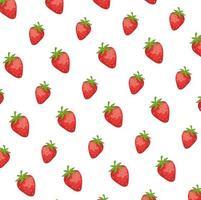 fragole fresche frutti pattern di sfondo vettore