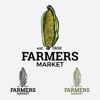 Logo del mercato degli agricoltori di mais