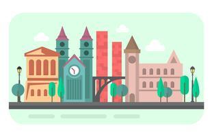 Città piatta vettore