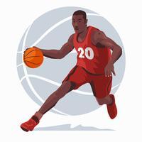 Illustrazione del giocatore di pallacanestro vettore