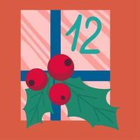 regalo di Natale in illustrazione vettoriale piatto di carta da imballaggio
