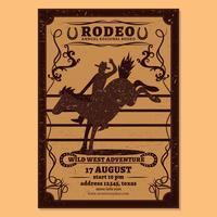Vettore di flyer rodeo