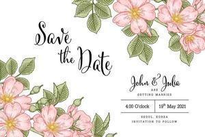 rosa canina o rosa canina fiore illustrazioni botaniche disegnate a mano. vettore