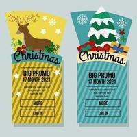 banner verticale di vendita di natale con elementi invernali vettore
